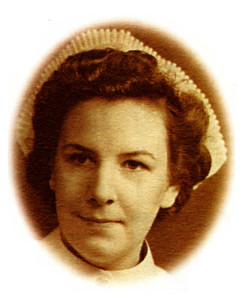 Christine Bress during her early nursing years.