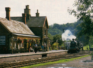The delight of a British country station of yesteryear - once so familiar to Ronald Whitehead. This one at Highley on the Severn Valley Railway has been preserved just as it was.