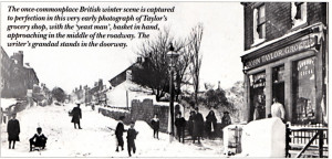 TIN BUSES AND JOY BOMBS –  THE VILLAGE STORE IN WINTER