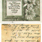'A birthday wish sincere' to a grandson, postmarked Yeovil, February 4 1917.