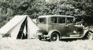 Happy days remembered as the faithful Morris Cowley stands at a camping site in 1933.