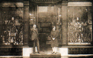 The Eccles Co-operative Society's Swinton branch shoe shop in the 1920s.