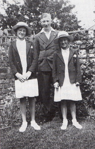Easter was always a time for being spick and span, as demonstrated by the writer (on the left) and her brother and sister - 'the trouble-makers' as their Mum called them.