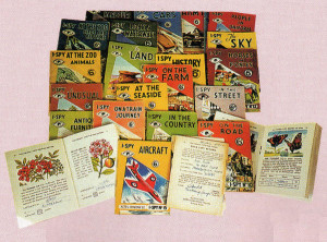 More memories of booklets in the famous I-Spy series, with subjects ranging from In the Street and On the Road to the Sky, The Land, In the Country and the Unusual.