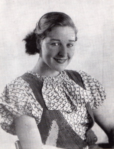 Betty Humphries at the age of 14, by which time the failed stream-jumper' was more than a match for most boys...