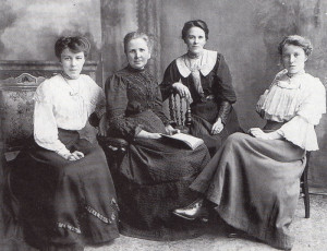 In earlier days, Betty Kellar's Gran (on whom her recent book There's Trouble in the Tea-Leaves was based) is seen on the right of this family group.