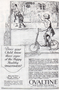 This Ovaltine/Ovaltineys advertisement dates back to 1936.
