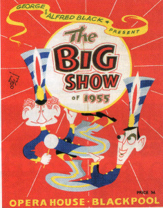 Alma Cogan starred alongside Jimmy Jewel and Ben Warriss in George and Alfred Black's The Big Show at the Opera House, Blackpool, in 1955.