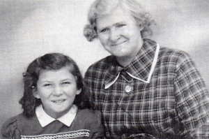 A treasure photograph of the writer and her mother