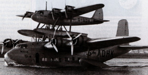 The Short-Mayo Composite allowed the flying boat to travel for longer distances, such as across the Atlantic (stilltime.com)