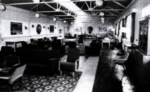 The NAAFI at Park Hall Camp, an alternative to 'stinky fish' and 'sweaty cheese'.
