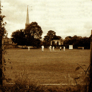 The epitome of an English summer, a village cricket match gets underway