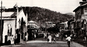 Regent Road, Freetown, in the 1940s.