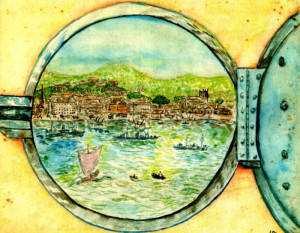 A fist view of Freetown harbour painted by Sid